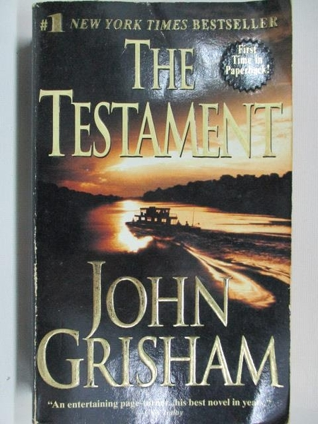 【書寶二手書T7/原文小說_ANP】The Testament_John Grisham