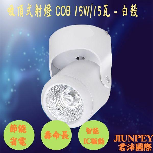 吸頂燈飾 安裝於天花板 適用 COB光源 15W/15瓦 明裝3001 免運費 廠家直送 (白殼)