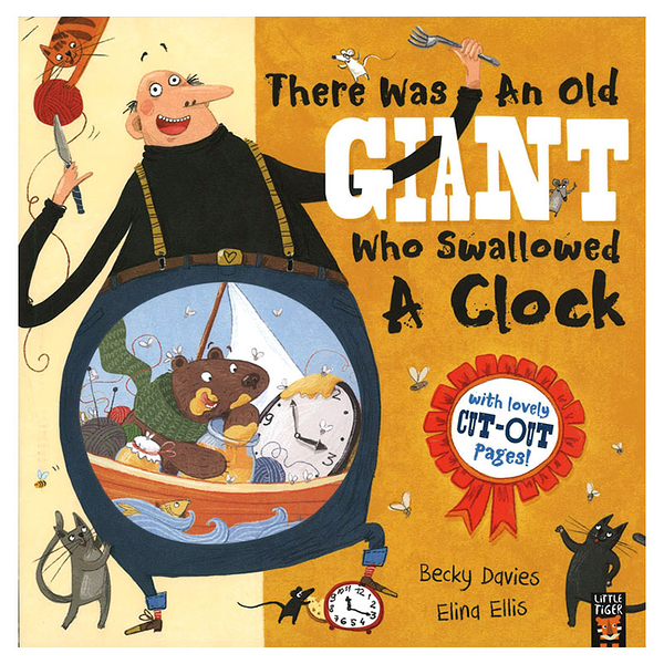There Was An Old Giant Who Swallowed a Clock句型練習教學英文繪本圖畫童書
