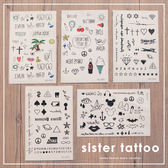 MUMU【A51543】可愛紋身刺青貼紙(1張入)。五種