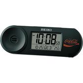 SEIKO 精工 Coca-Cola 可口可樂聯名桌鐘-黑 QHL902K