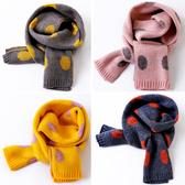 韓版秋冬季兒童圍巾女童男童毛線女孩可愛寶寶加厚針織保暖圍脖潮