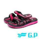 G.P高彈性厚底舒適雙帶止滑拖鞋 女鞋-桃(另有紫)