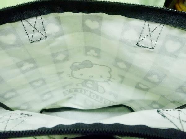 【震撼精品百貨】Hello Kitty 凱蒂貓~手提袋肩背包『防水面黑白格子』