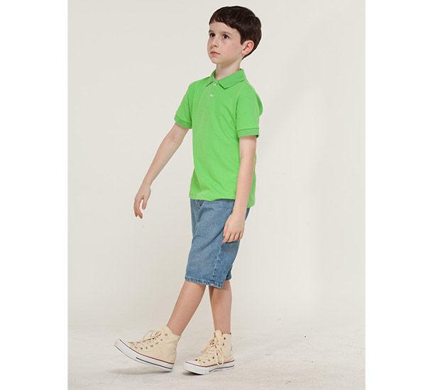 女polo衫短袖素面 涼感衣 蘋果綠 現貨 綠色