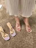 仙女風涼鞋女夏季潮百搭高跟鞋