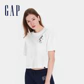 Gap女裝Gap x Snoopy 史努比系列棉質舒適寬鬆短袖T恤567678-光感亮白