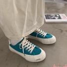 帆布鞋帆布鞋女ulzzang百搭韓版2021年新款春秋板鞋ins潮小眾設計感鞋子 芊墨 618大促