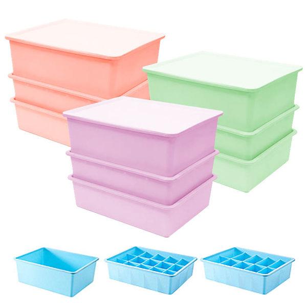 三層 馬卡龍 內衣收納盒 收納箱 收納盒 收納櫃 防潮/防水【C004】