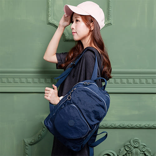 COUNT DUCK 美系悠活輕量愛心輕旅後背包-CD-018(大人款)- 海軍藍
