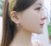 耳環女氣質網紅耳釘韓國個性潮人簡約耳墜純銀百搭長款吊墜耳飾品