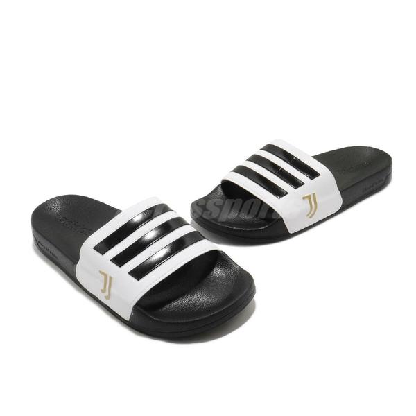 adidas 涼拖鞋 Adilette Shower 黑 白 男鞋 女鞋 尤文圖斯 足球系列 運動拖鞋 涼鞋 【ACS】 FW7075