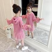 長袖洋裝  女童洋裝秋裝2019新款春秋衛衣裙兒童童裝洋氣女孩長袖裙子