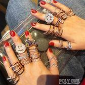 戒指 開口可調節網紅簡約食指戒指女個性時尚日式輕奢日韓潮人學生指環 polygirl