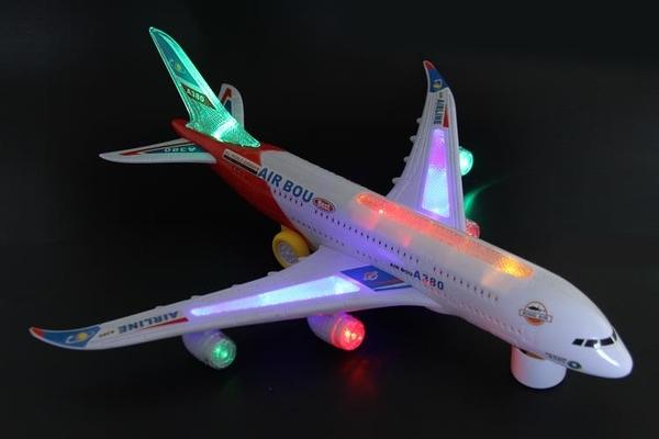 飛機模型 空中巴士A380兒童電動玩具飛機模型聲光拼裝組裝閃光客機大號TW【快速出貨八折搶購】