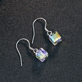 耳環 925純銀銀飾-魔方水晶生日情人節禮物女飾品73dy62【時尚巴黎】