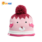 UV100 防曬 抗UV 禦寒保暖趣味針織帽-童