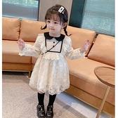 3女童蕾絲洋裝春款4兒童洋氣春裙5小童小女孩公主裙寶寶裙子7歲 幸福第一站
