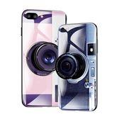 蘋果7plus手機殼抖音同款iPhonex潮牌ins網紅8plus全包防摔情侶6p玻璃ip6s女款X相機i七超薄新款個性創意