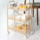 床頭收納架可移動美甲客廳浴室美容小落地帶輪夾縫臥室置物架【帝一3C旗艦】YTL