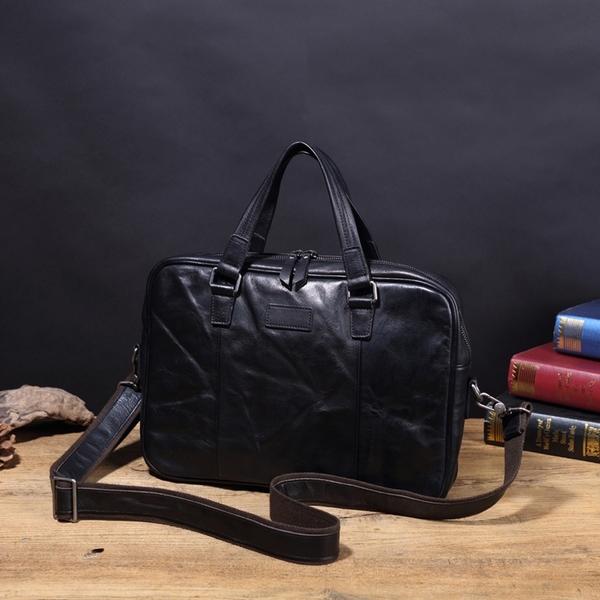 【Solomon 原創設計皮件】古德 水洗牛革 手提公事包 附背帶