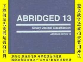 二手書博民逛書店Abridged罕見Dewey Decimal Classification And Relative Index
