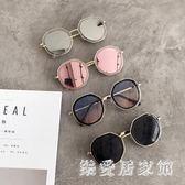 韓版個性百搭圓臉大臉顯瘦網紅圓形時尚太陽鏡潮人眼鏡 QQ5714『樂愛居家館』