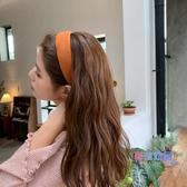 髮箍 秋冬純色髮箍正韓網紅ins少女髮飾簡約壓髮暖色系小清新頭箍頭飾【快速出貨】