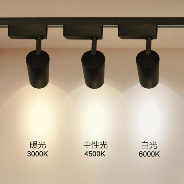 led筒燈軌道燈天花燈嵌入式牛眼燈服裝店走廊玄關過道單燈射燈