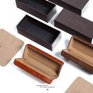 韩国CUSTOM同款眼镜盒疯马皮ins简约复古文艺眼镜盒抗压收纳盒