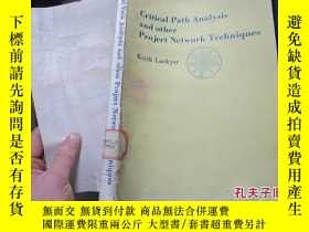 二手書博民逛書店critical罕見path analysis and othe