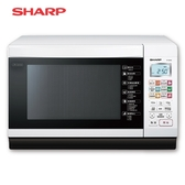 [SHARP 夏普]27 公升微電腦燒烤微波爐白R T28NC W