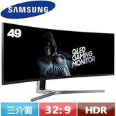 SAMSUNG三星 49型 C49HG90DME QLED超寬曲面商用液晶螢幕【指定款螢幕送電競椅~3/31】