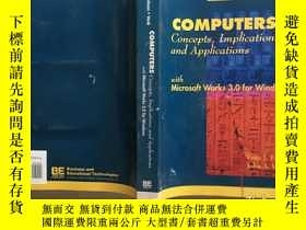 二手書博民逛書店COMPUTERS罕見Concepts,Implications