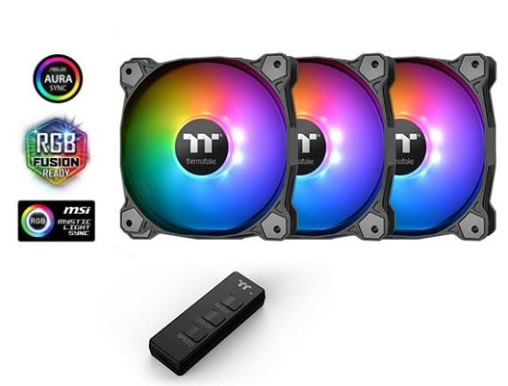 【超人百貨F】 曜越 Pure 14 ARGB Sync水冷排風扇主機板連動TT Premium 頂級版 (三顆包)