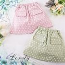 輕甜雙口袋點點短裙-2色(內有安全褲)(...
