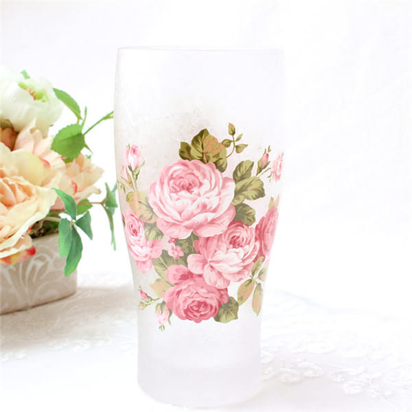 日本【紀念玫瑰 Anniversary Rose】霧面啤酒杯