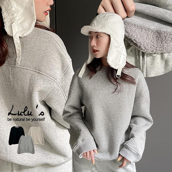 LULUS【A01200985】C內羔羊毛大學T3色