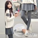 孕婦裝 MIMI別走【P61181】顧客推薦 3色巧搭假兩件傘擺褲裙 孕婦裙 孕婦褲