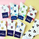 韓國 迪士尼滿版字母造型四分襪 米奇 米...