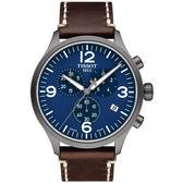 TISSOT天梭Chrono XL韻馳系列經典計時腕錶   T1166173604700 藍