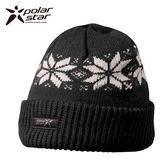 PolarStar 反摺橫條羊毛保暖帽 P13606『黑』
