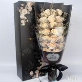 仿真玫瑰花假花肥香皂花禮盒母親節生日禮物創意永生花束表白CC2600『麗人雅苑』