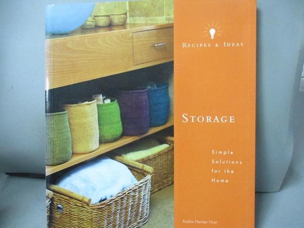 【書寶二手書T9/設計_DD1】Recipes and Ideas: Storage_Hirst, Kasha Harm