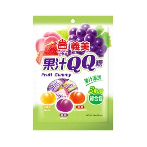 義美 果汁QQ糖(綜合)176g【愛買】
