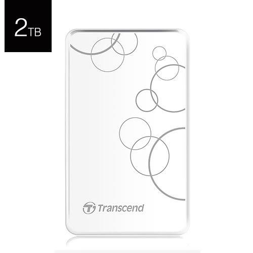 Transcend 創見 StoreJet 25A3 2T B TS2TSJ25A3W 白色 USB3.0 2.5吋 行動 外接硬碟