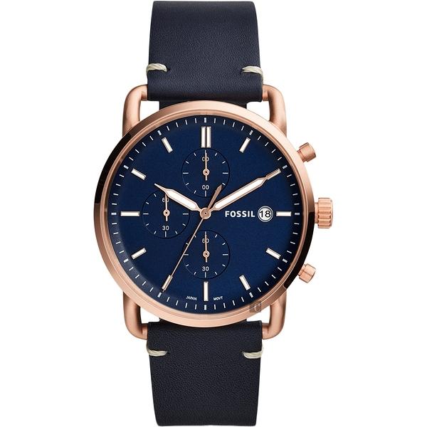 FOSSIL Commuter 潮男時尚計時手錶-藍/42mm FS5404