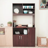 《Hopma》胡桃木色典藏高廚房櫃