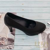 現貨 OL上班鞋圓頭系列7.5公分 黑色高跟鞋推薦 圓頭中跟 20-26 EPRIS艾佩絲-時尚黑