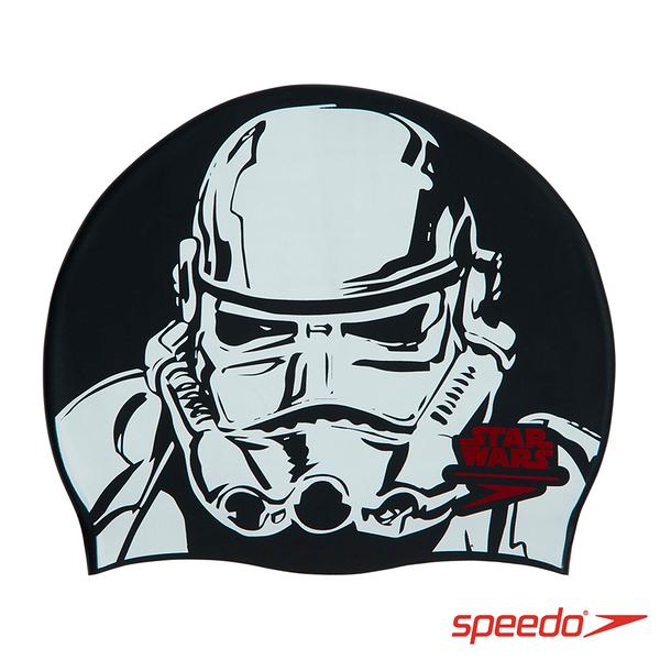 SPEEDO 成人矽膠泳帽 Slogan Print 帝國風暴兵【線上體育】SD808385C853